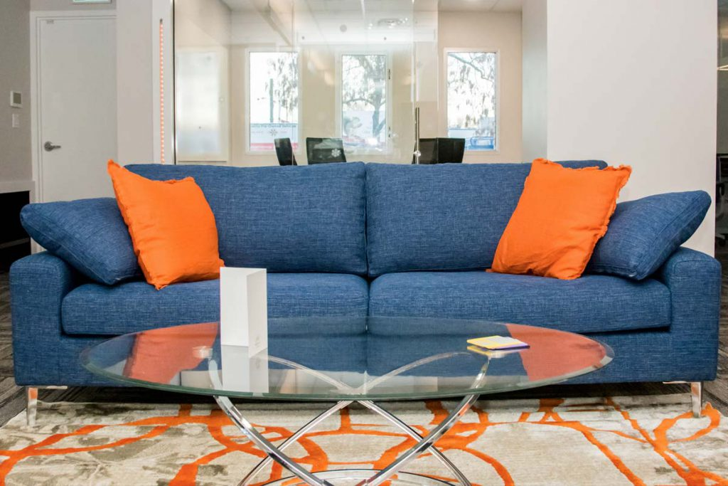 Sofa at Impirica office
